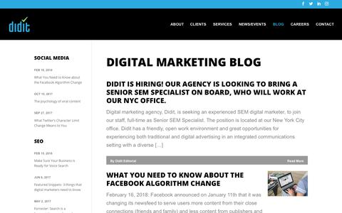 Screenshot of Blog didit.com - Digital Marketing Blog | Didit - captured Jan. 27, 2020