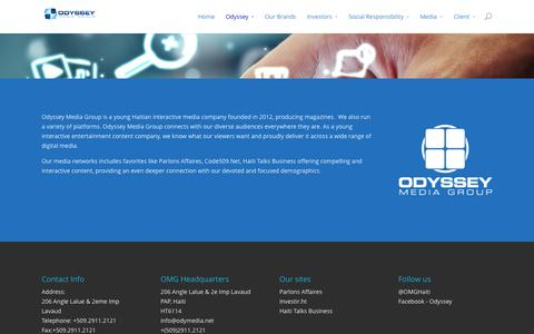 Screenshot of About Page odymedia.net - About us  | Odyssey Media Group Haiti - captured Oct. 3, 2014