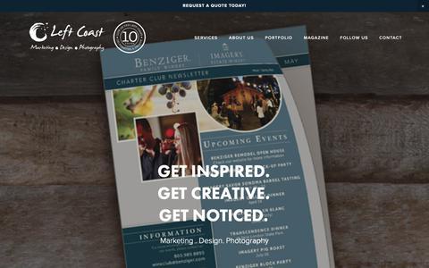 Screenshot of Services Page leftcoastmarketing.com - Services — Left Coast Marketing, Design, Print & Photography - captured Nov. 4, 2018