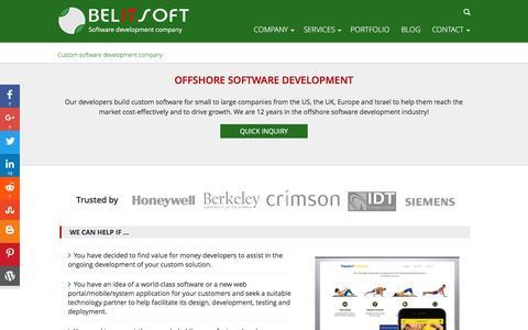 Screenshot of Testimonials Page belitsoft.com - Offshore Software Development - captured July 28, 2016