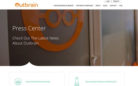 Screenshot of Press Page outbrain.com - Outbrain News and Updates | News | Outbrain.com - captured Dec. 19, 2017