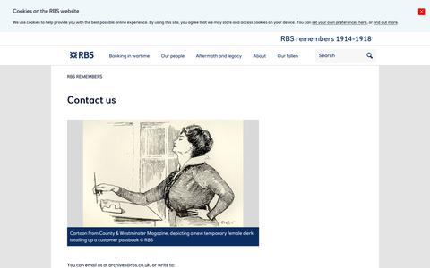 Screenshot of Contact Page rbsremembers.com - Contact us | RBS Remembers - captured Feb. 23, 2018