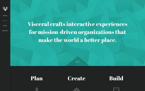 Screenshot of About Page thisisvisceral.com - About - Visceral - captured Oct. 26, 2014
