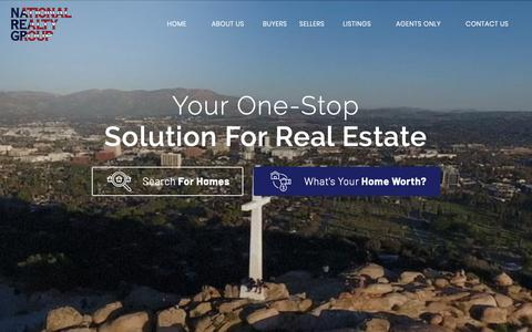Screenshot of Home Page nationalrealtygroup.com - National Realty Group  - Homes to Buy and Homes for Sale in the Riverside and Riverside Community - captured Nov. 7, 2018