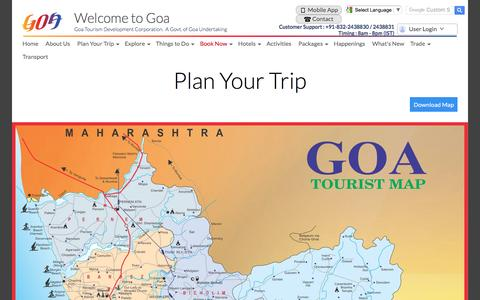 Screenshot of Maps & Directions Page goa-tourism.com - Goa Tourism - Plan Your Trip - captured April 28, 2017