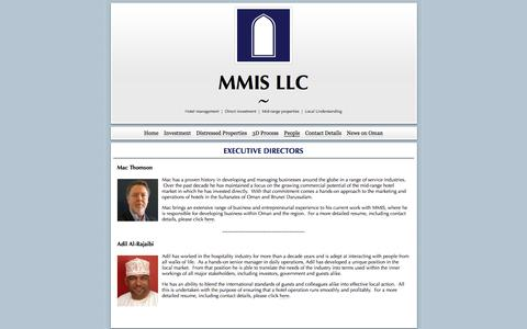 Screenshot of Team Page mmis.co - Executive Directors | MMIS LLC - captured Nov. 18, 2016