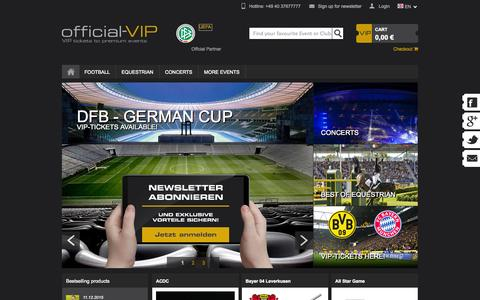 Screenshot of Home Page official-vip.com - official-VIP - VIP tickets to Premium Events - captured Jan. 23, 2015