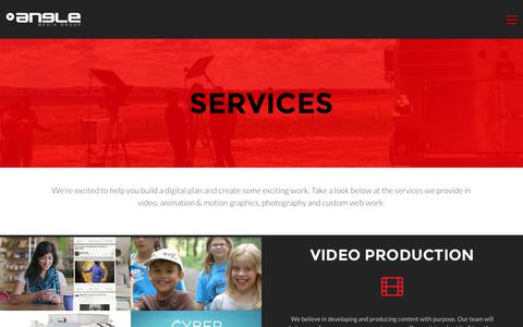 Screenshot of Services Page anglemediagroup.com - Services - Angle Media Group - captured July 25, 2016