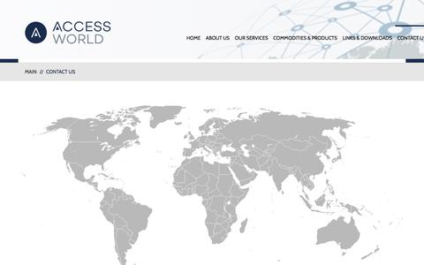 Screenshot of Contact Page Locations Page accessworld.com - Contact Us  |  Access World | Your partner in commodities warehousing and logistics.  Locally. Globally. - captured Jan. 25, 2018