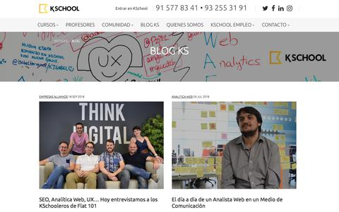 Screenshot of Blog kschool.com - Blog Kschool I Toda la actualidad del Marketing Digital - captured Sept. 20, 2018