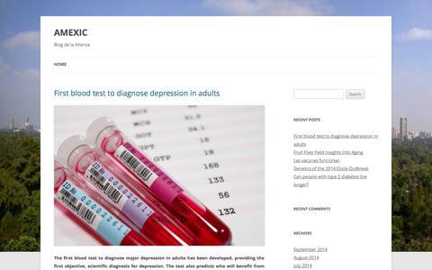 Screenshot of Blog amexic.org - AMEXIC | Blog de la Alianza - captured Sept. 30, 2014