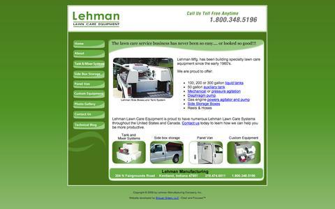 Screenshot of Home Page llc-equipment.com - Home - Lehman Lawn Care Equipment - captured Oct. 2, 2014
