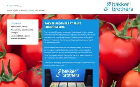 Screenshot of Press Page bakkerbrothers.nl - Bakker Brothers - captured July 28, 2016