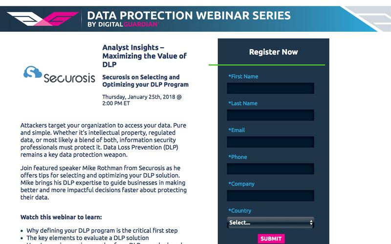 Analyst Insights – Maximizing the Value of DLP