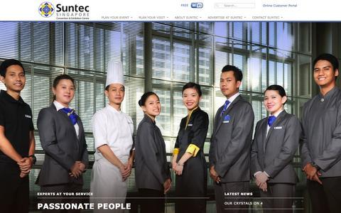 Screenshot of Home Page suntecsingapore.com - Suntec Singapore Convention & Exhibition Centre - captured Sept. 23, 2014
