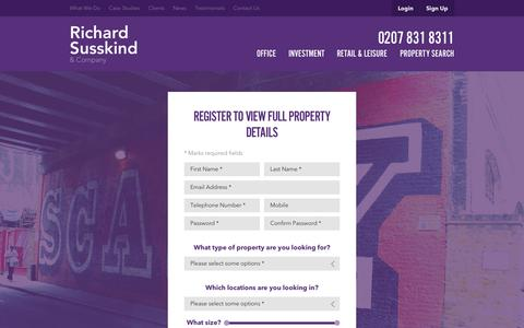 Screenshot of Signup Page richardsusskind.com - Sign Up | Richard Susskind - captured Oct. 26, 2014