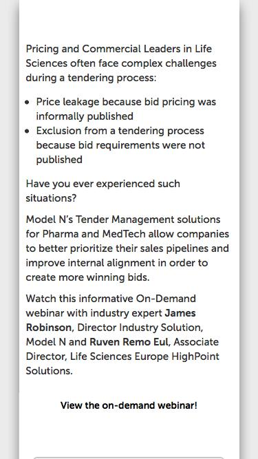 [On-Demand] Winning More Deals with an Improved Tendering Process