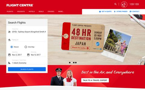 Cheap Flights by Australia's Unbeatable Travel Agents - Flight Centre
