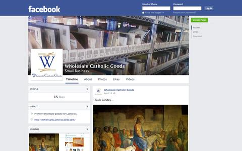 Screenshot of Facebook Page facebook.com - Wholesale Catholic Goods | Facebook - captured Oct. 25, 2014