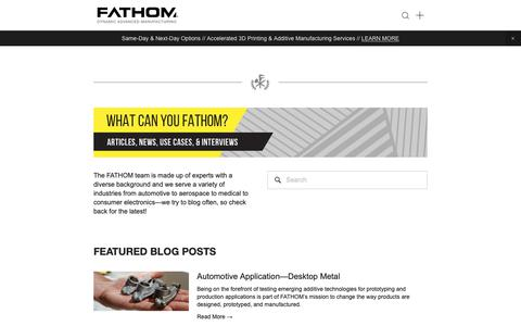 Screenshot of Blog studiofathom.com - Prototyping & Manufacturing Blog - FATHOM - captured Nov. 22, 2018