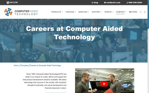 Screenshot of Jobs Page cati.com - Careers at CATI - captured Oct. 6, 2018