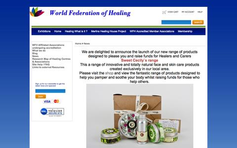 Screenshot of Press Page worldfederationofhealing.com - Sweet Cecily`s range - captured Sept. 30, 2014