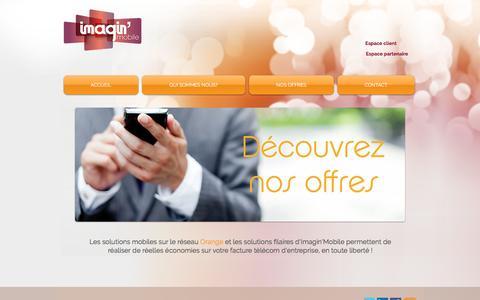 Screenshot of Home Page imaginmobile.fr - Imagin'Mobile - captured Aug. 5, 2016