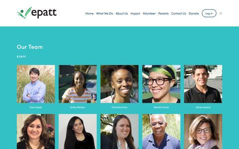 Screenshot of About Page epatt.org - Our Team — EPATT - captured Dec. 7, 2018