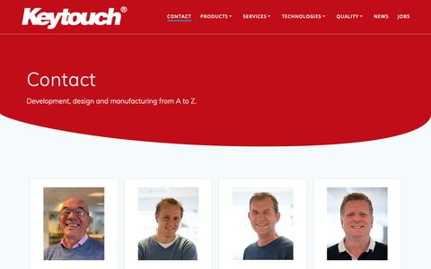 Screenshot of Contact Page keytouch.no - Contact - Keytouch Technology - captured Oct. 15, 2018