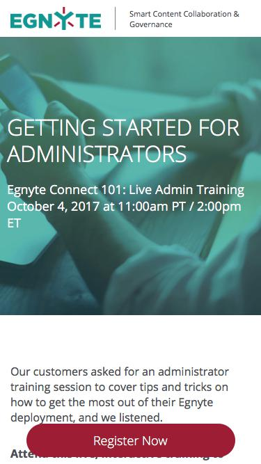 Egnyte Live Training | Getting Started for Administrators