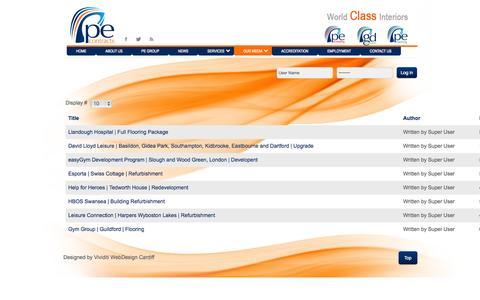 Screenshot of Case Studies Page pecontracts.com - Case Studies - captured Sept. 26, 2014