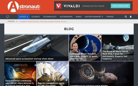 Screenshot of Blog astronaut.com - Blog Archives - Astronaut.com - captured Feb. 6, 2016