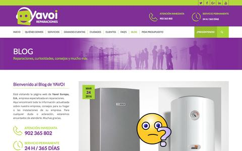 Screenshot of Blog yavoi.es - Blog - YAVOI Reparaciones - captured Aug. 18, 2016