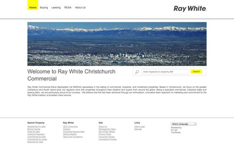 Screenshot of Home Page Site Map Page rwcchristchurch.co.nz - Ray White Christchurch Commercial - Real Estate Agency for Christchurch, New Zealand, NZ - captured Oct. 7, 2014