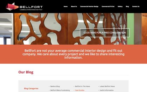 Screenshot of Case Studies Page bellfort.com.au - Case Studies - Bellfort's commercial fitout case studies - captured Nov. 22, 2016