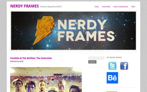 Screenshot of Contact Page nerdyframes.org - Cordelia & The Buffalo: The Interview | Nerdy Frames - captured March 2, 2016