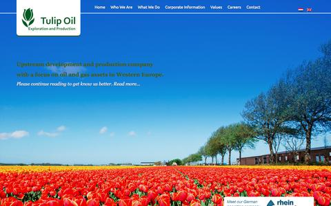 Screenshot of Home Page tulipoil.com - Tulip Oil | Upstream development and production company with a focus on oil and gas assets in Western Europe. - captured Sept. 21, 2018