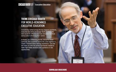 Screenshot of Landing Page chicagobooth.edu - Global Inquiry | Chicago Booth Executive Education - captured Sept. 21, 2016