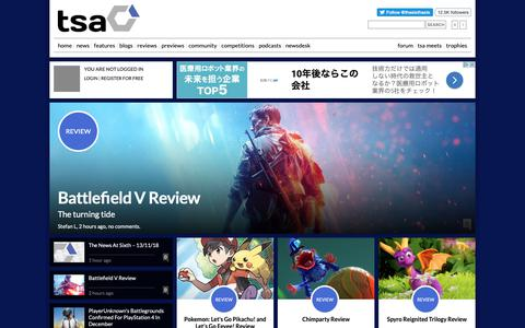 Screenshot of Home Page thesixthaxis.com - Video Gaming News & Reviews at TheSixthAxis - captured Nov. 13, 2018