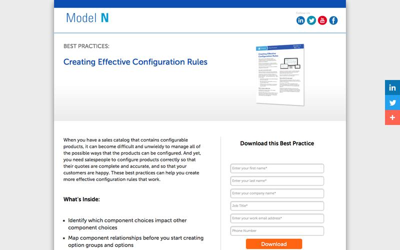 Best Practices: Modeling Complex Products