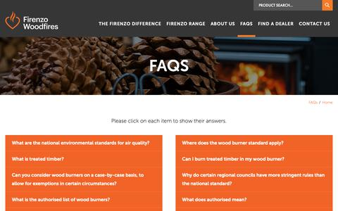 Screenshot of FAQ Page firenzo.co.nz - FAQS | Firenzo Woodfires - captured Dec. 19, 2018