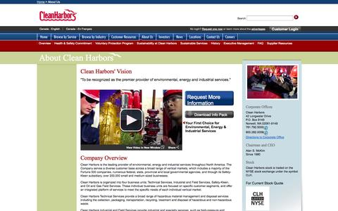 Screenshot of About Page cleanharbors.com - About Clean Harbors - Clean Harbors - captured Oct. 28, 2014