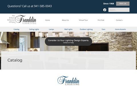 Screenshot of Products Page franklinlighting.com - Lighting Catalog - Browse Our Sarasota Lighting Products   Franklin Lighting - captured Oct. 11, 2018