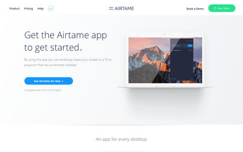 Download the Airtame app to your device | Airtame