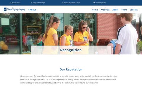 Screenshot of Testimonials Page ga-ins.com - Recognition - General Agency Insurance - captured Sept. 27, 2018