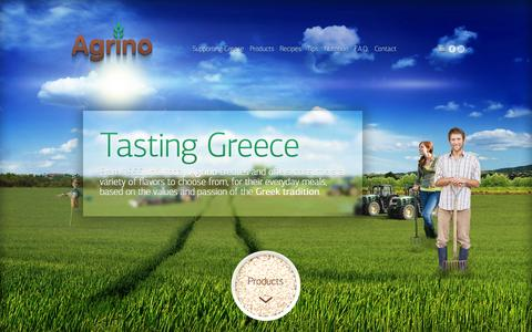 Screenshot of Home Page agrino.com - Agrino, Tasting Greece - captured Sept. 10, 2015
