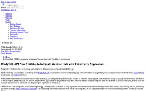 ReadyTalk API Now Available to Integrate Webinar Data with Third-Party Applications | ReadyTalk