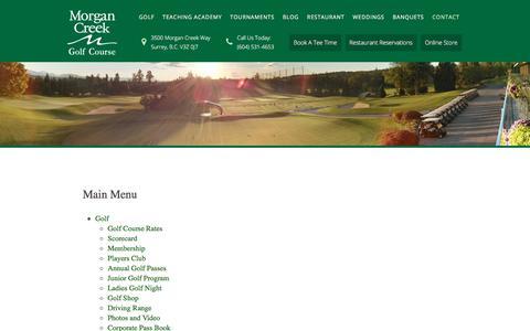 Screenshot of Site Map Page morgancreekgolf.com - Site Map - captured Oct. 28, 2017