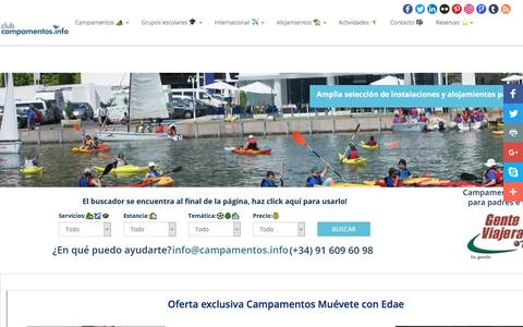 Screenshot of Home Page campamentos.info - Club campamentos.info ⛺️☀️ campamentos de verano 2017! - captured May 17, 2017