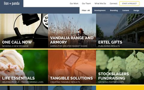 Screenshot of Case Studies Page lionandpanda.com - Beyond Just Another Web Design CompanyLion & Panda - captured Sept. 26, 2015